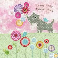 flowers special friend birthday card karenza paperie
