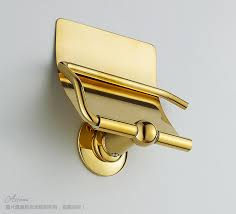 gold plated toilet paper box paper towel holder bathroom hardware