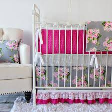 Pink Nursery Bedding Sets by Nursery Beddings Pink And Grey Crib Bedding Ebay With Pink And