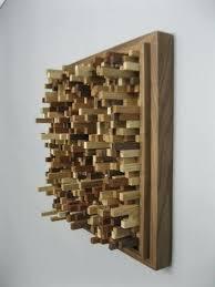 geometric wood sculpture wall decor sculpture wooden wall sculpture reclaimed wood