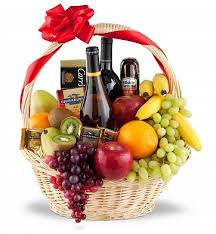 fruit basket delivery premium selection wine and fruit basket 129 95 same day delivery