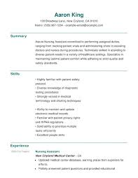 Nursing Assistant Job Description For Resume by Nursing Functional Resumes Resume Help