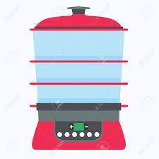equipement electrique cuisine vapeur icône nourriture vecteur cuisinier cuisine illustration