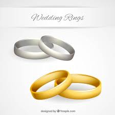 gold or silver wedding rings gold and silver wedding rings vector free