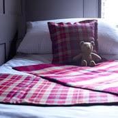 tartan bed runner made in scotland
