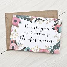 thank you bridesmaid cards bridesmaid thank you card by here s to us notonthehighstreet
