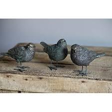 garden birds ornaments in bronze finish