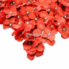 deep red color 44x44cm deep red color artificial hydrangea flowers carpet dongyi
