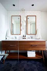 Cool Modern Bathrooms Cool Mid Century Modern Bathroom With Colored Floor Tiles
