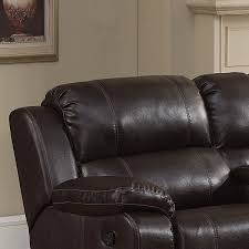 reclining sectional dark brown christies home living