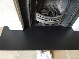 tackling a urine stained slate fireplace hearth in boars hill