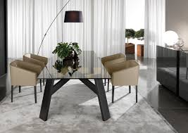 furniture minimalist grey furry rug and cream leather dining