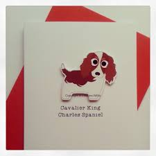 and cuddly cavalier king charles spaniel card