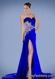 one shoulder royal blue prom dresses 2016 2017 b2b fashion
