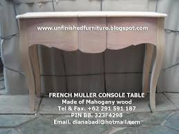 Unfinished Console Table Unfinished Mahogany Furniture French Muller Console Table