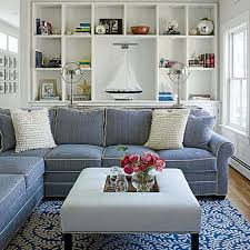 Dark Blue Living Room by Blue And White Living Room Decorating Ideas Blue And White Living