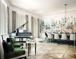 Dining Room Ideas In Private House by Knightsbridge Private Park Moscow Is Designed In English