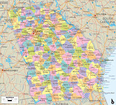 Road Maps Usa map of georgia usa