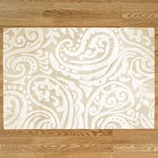 Paisley Area Rugs Ivory Oatmeal Paisley Tufted Rug Area Rugs Cost Plus Wor
