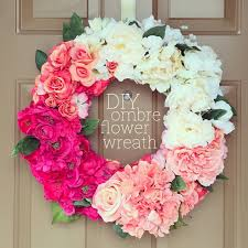 flower wreath diy ombre flower wreath