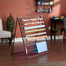 wrapping paper holder craft storage rack wall mount wrapping paper holder ribbon hanging