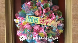 easter wreath easter wreath with a whole lotta ribbon