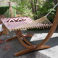 Padded Hammock Chair Island Bay 13 Ft Chevron Stripe Quilted Hammock With Wood Arc