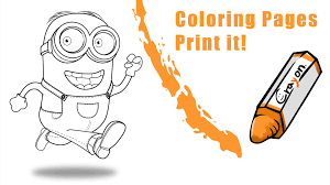 how to draw coloring pages how to draw a minion create a coloring pages youtube