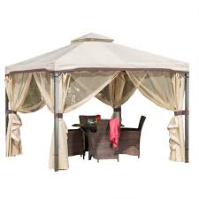 Mainstays Gazebo Replacement Parts by Sunset Beige Outdoor Gazebo Canopy Walmart Com