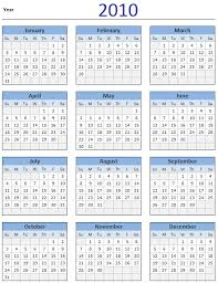 Excel 2010 Calendar Template Free 2010 Calendar And Print Year 2010 Calendar Today