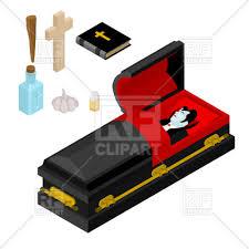black casket dracula in coffin vire count in black casket vector clipart