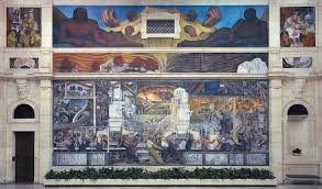 frida kahlo and diego rivera offer dueling accounts of detroit s north wall of