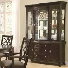 Dining Room Set With Buffet And Hutch Meredith 7 Pc Dining Table Set In Espresso Finish By Coaster 103531