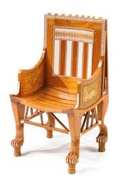 Childs Armchair Child U0027s Chair Tutankhamun Exhibit Because Of Its Small Scale