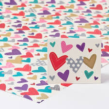 heart wrapping paper heart print luxury wrapping paper gift tag only 59p