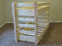 Small Bunk Beds Small Toddler Bunk Bed Plans Fits Two Crib Size Mattresses