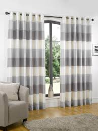 Grey White Striped Curtains Garage Shed Blackout Curtains With Horizontal Striped Curtains
