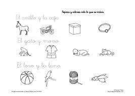 imagenes para colorear y escribir oraciones comprensión lectora de frases cortas lee y pinta