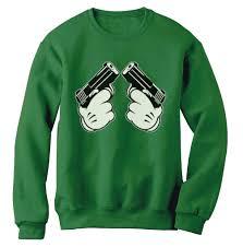 Dope American Flag Mickey Gun Hands Sweatshirt Hip Hop Most Dope Gang Fresh Cali Swag