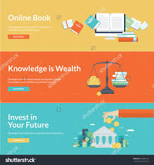 flat design vector illustration concepts for online book save to a
