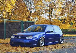 volkswagen golf mk4 with r line bumpers and on rotiform blq wheels