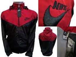 Jual Jaket Nike Parasut jual jaket nike parasut warna merah kombinasi hitam anugrah busana