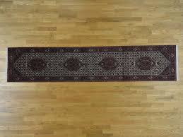 Ohio State Runner Rug 2 9 X12 10 Knotted Wool Tabriz Runner