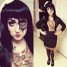 halloween doll wig j rain spirit of halloween wig value village vintage dress