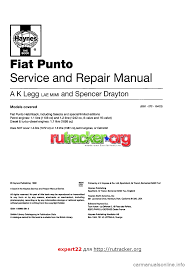 fiat punto 1995 176 1 g workshop manual