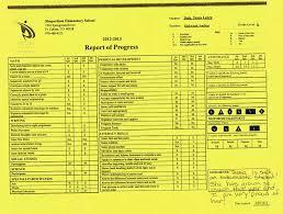 preschool report card template kindergarten sle report cards images