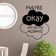 wall decal quote may be okay will be our always vinyl zoom