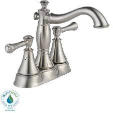 shop delta cassidy stainless 2 handle 4 in centerset watersense