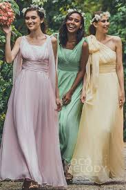bridesmaid dress sheath column floor length chiffon zipper bridesmaid dress jozf15001