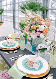 spring wedding table scape ideas